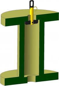 Захват для вертикального подъема барабана (трубный)