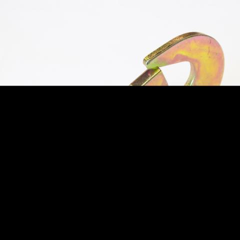 Крюк развёрнутый карабинный