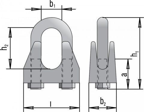 Зажимы винтовые канатные по DIN 741 (для крепления и фиксации)